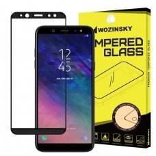 Wozinsky Tempered Glass Full Glue Super Tough Screen Protector Full Coveraged with Frame Case Friendly for Samsung Galaxy A6 2018 A600 black (dur15) (SGA618)