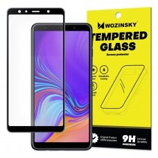 Wozinsky Tempered Glass Full Glue Super Tough Screen Protector Full Coveraged with Frame Case Friendly for Samsung Galaxy A7 2018 A750 black (pjj45) (SGA718)