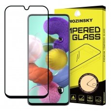 Wozinsky Tempered Glass Full Glue Super Tough Screen Protector Full Coveraged with Frame Case Friendly for Samsung Galaxy A71 black (qoe97) (SGA71)