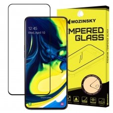 Wozinsky Tempered Glass Full Glue Super Tough Screen Protector Full Coveraged with Frame Case Friendly for Samsung Galaxy A80 black (alq37) (SAA80)