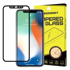 Wozinsky Tempered Glass Full Glue Super Tough Screen Protector Full Coveraged with Frame Case Friendly for Samsung Galaxy J6 Plus 2018 J610 / J4 Plus 2018 J415 black (nqp84) (SJ6PL)