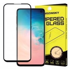Wozinsky Tempered Glass Full Glue Super Tough Screen Protector Full Coveraged with Frame Case Friendly for Samsung Galaxy S10e black  (SAS10E)