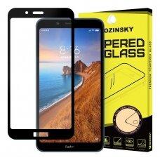 Wozinsky Tempered Glass Full Glue Super Tough Screen Protector Full Coveraged with Frame Case Friendly for Xiaomi Redmi 7A black (pel19) (XRM7A)