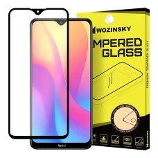 Wozinsky Tempered Glass Full Glue Super Tough Screen Protector Full Coveraged with Frame Case Friendly for Xiaomi Redmi 8A black (qew24) (XRM8A)