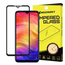 Wozinsky Tempered Glass Full Glue Super Tough Screen Protector Full Coveraged with Frame Case Friendly for Xiaomi Redmi Note 7 black (ofr49) (XIRN7)