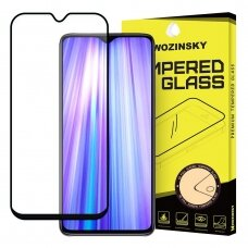 Wozinsky Tempered Glass Full Glue Super Tough Screen Protector Full Coveraged with Frame Case Friendly for Xiaomi Redmi Note 8 Pro black (jof59) (XRNT8PR)