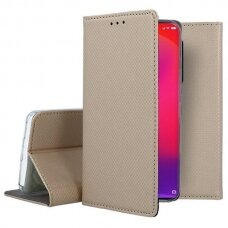 xiaomi mi 9t Eco leather flip case Mocco Smart Magnet gold