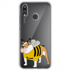 "xiaomi mi a2 lite (redmi 6 pro) silicone phone case with unique design 1.0 mm ""u-case Airskin Doggo 1 design"""